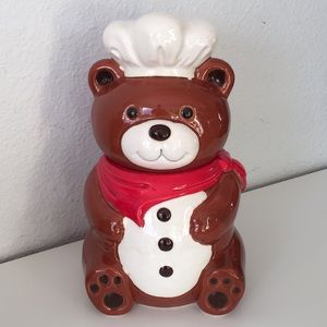 Vintage Ceramic Teddy Bear Cookie Jar Japan